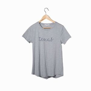 Embroidered Texas T-Shirt - Grey XL